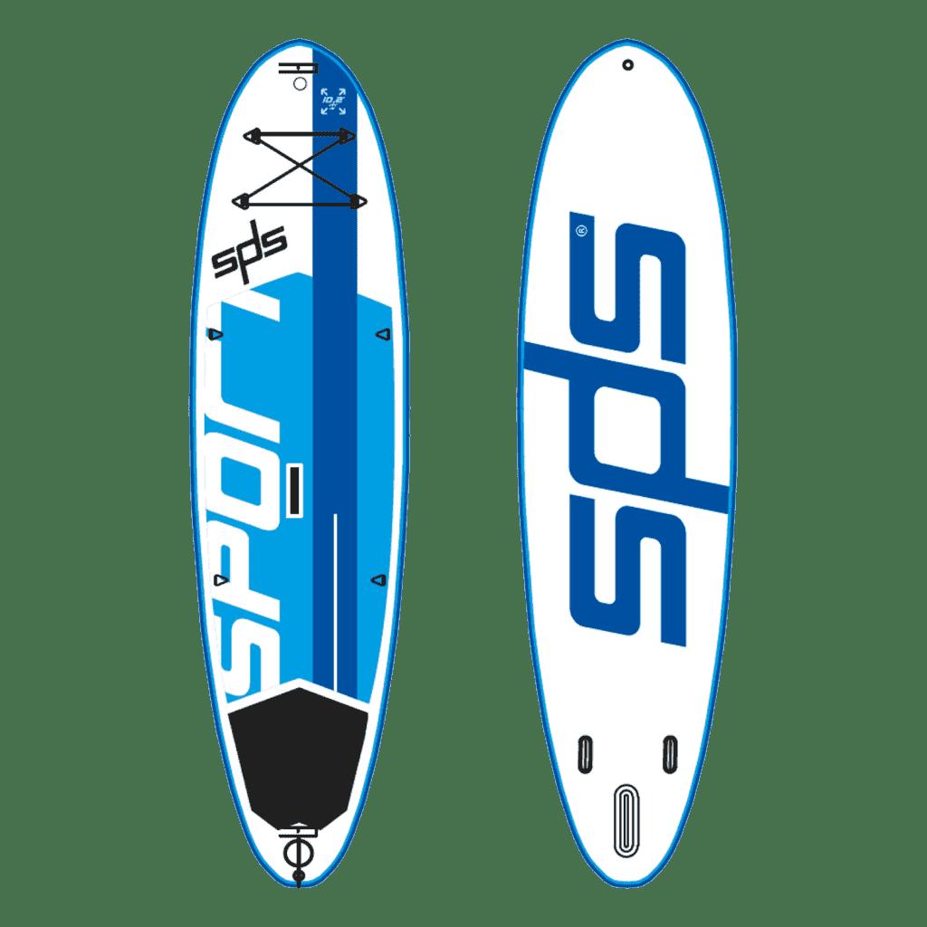 Sport es una tabla de SUP hinchable preparada para soportar jornadas y jornadas de alquileres y clases en la playa.