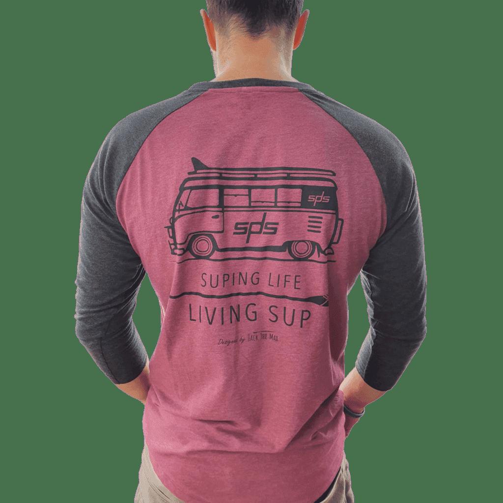   Camisetas 3/4 de SPS Manufacturado con productos 100% reciclados