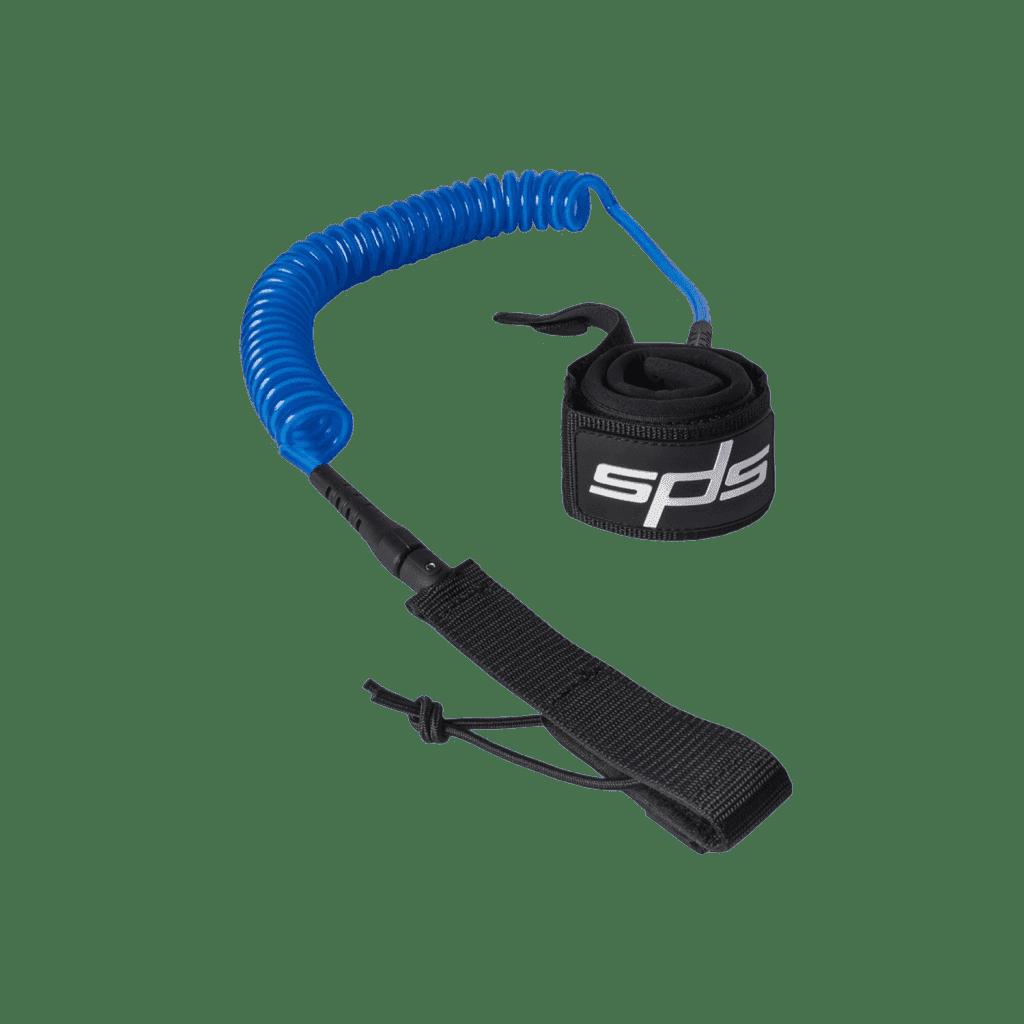 Leash Race Azul especial para carreras o travesías de 9', urethano de 8mm ultraresistente