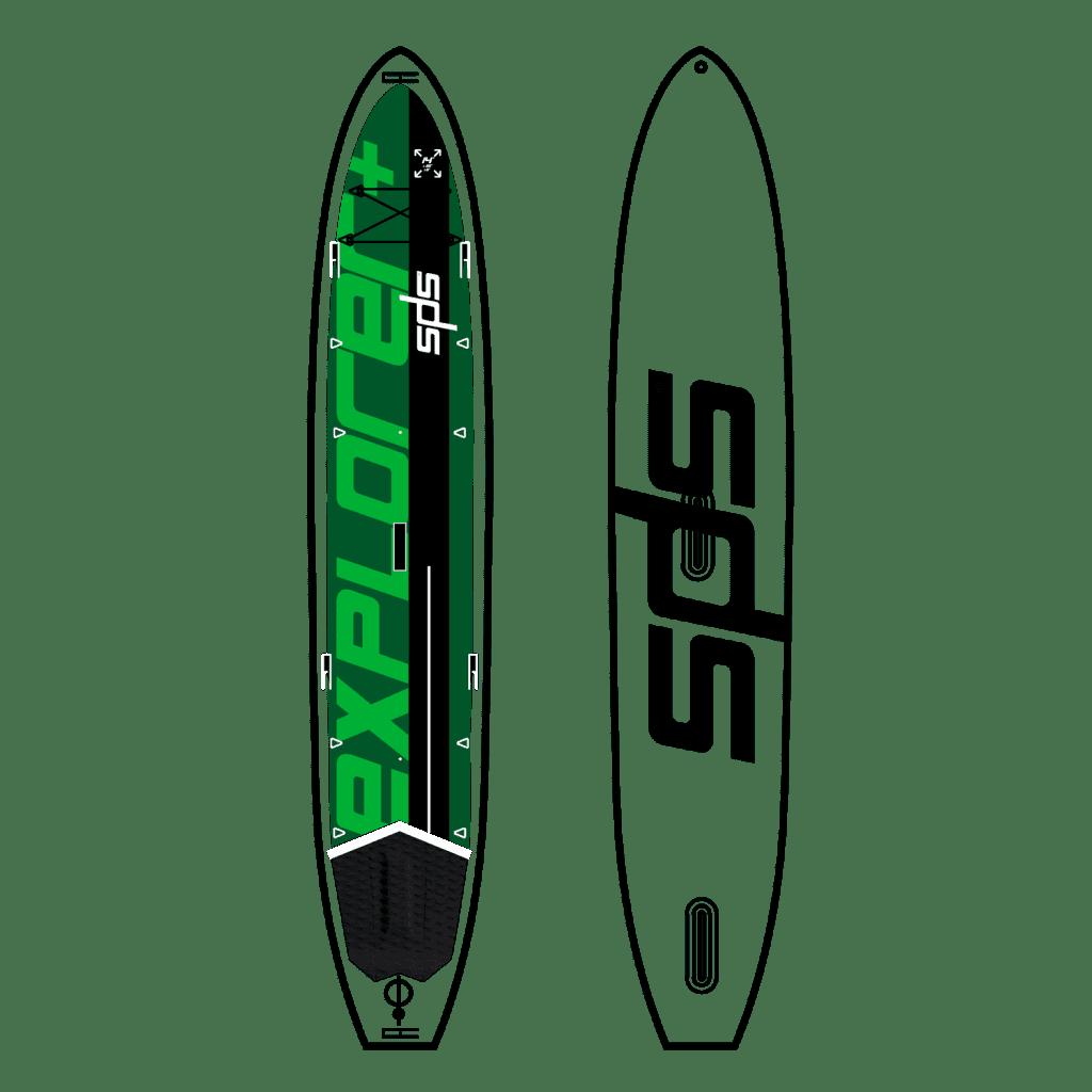 Explorer+ Tabla para 1 o 2 personas, tanto como SUP como kayak